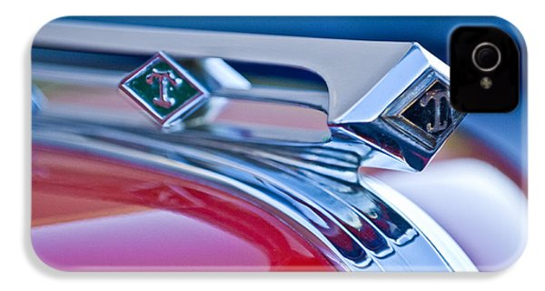 1949 Diamond T Truck Hood Ornament 3 IPhone 4 / 4s Case by Jill Reger