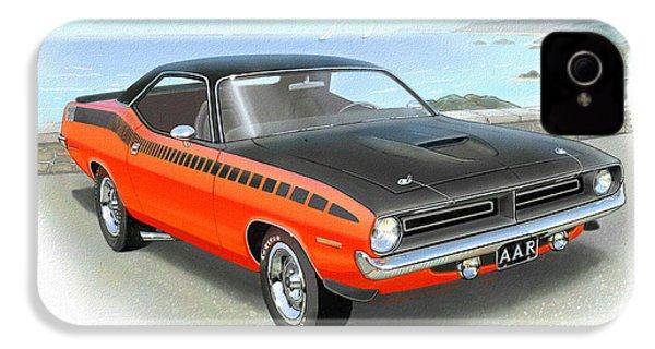 1970 Barracuda Aar  Cuda Classic Muscle Car IPhone 4 / 4s Case by John Samsen