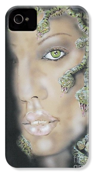 1st Medusa IPhone 4 / 4s Case by John Sodja