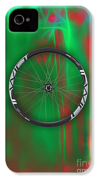 Carbon Fiber Bicycle Wheel Collection IPhone 4 / 4s Case by Marvin Blaine