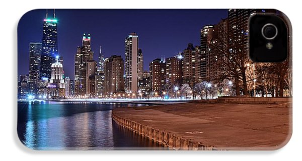 Chicago From The North IPhone 4 / 4s Case by Frozen in Time Fine Art Photography