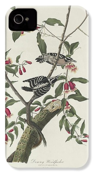 Downy Woodpecker IPhone 4 / 4s Case by John James Audubon