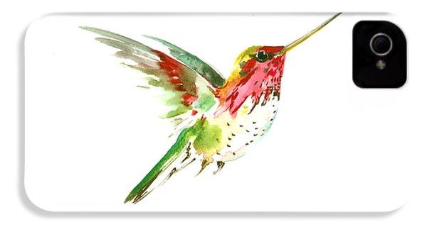 Flying Hummingbird IPhone 4 / 4s Case by Suren Nersisyan