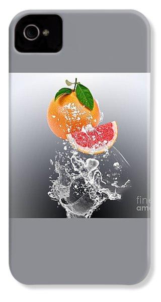 Grapefruit Splash IPhone 4 / 4s Case by Marvin Blaine