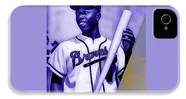 Hank Aaron Collection IPhone 4 / 4s Case by Marvin Blaine