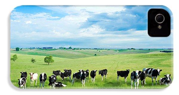 Happy Cows IPhone 4 / 4s Case by Todd Klassy
