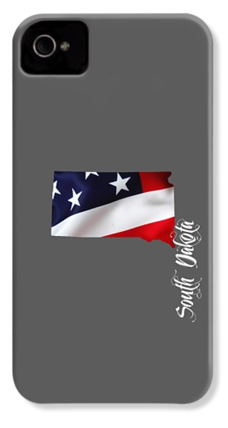 South Dakota Map Collection IPhone 4 / 4s Case by Marvin Blaine