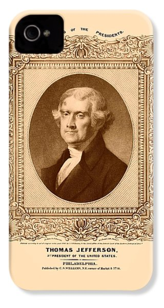 Thomas Jefferson IPhone 4 / 4s Case by War Is Hell Store