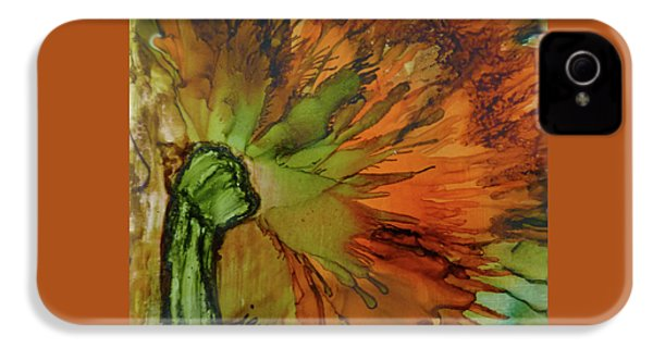 3-a Flower With Stem IPhone 4 / 4s Case by Jazz