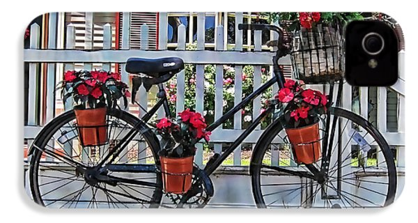 Flower Bike Collection IPhone 4 / 4s Case by Marvin Blaine