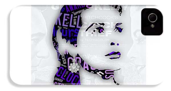 Grace Kelly Movies In Words IPhone 4 / 4s Case by Marvin Blaine