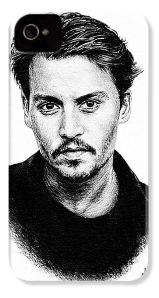 Johnny Depp IPhone 4 / 4s Case by Andrew Read