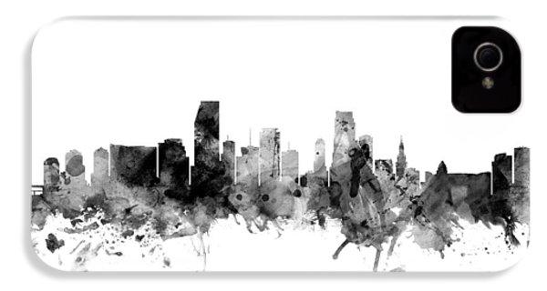 Miami Florida Skyline IPhone 4 / 4s Case by Michael Tompsett