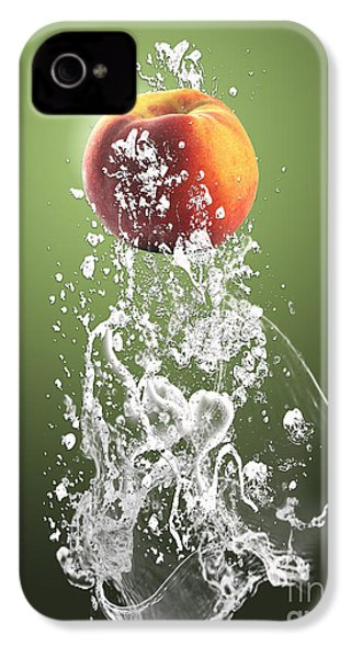 Peach Splash IPhone 4 / 4s Case by Marvin Blaine