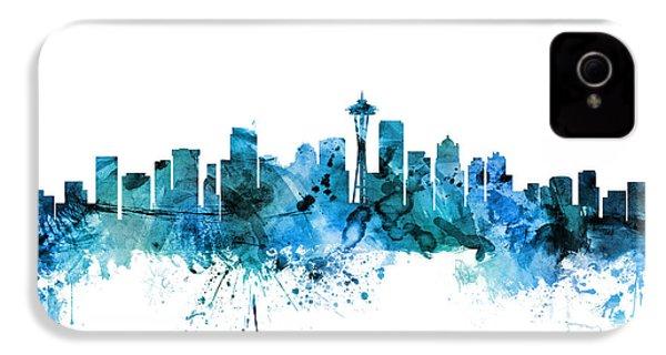 Seattle Washington Skyline IPhone 4 / 4s Case by Michael Tompsett