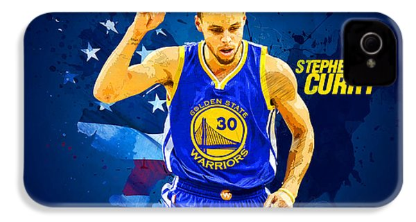 Stephen Curry IPhone 4 / 4s Case by Semih Yurdabak