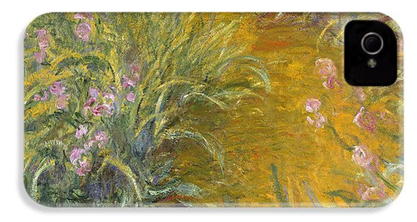 The Path Through The Irises IPhone 4 / 4s Case by Claude Monet