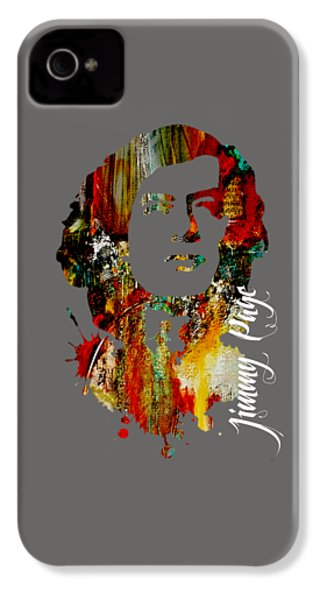 Jimmy Page Collection IPhone 4 / 4s Case by Marvin Blaine