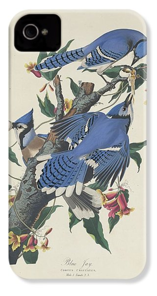 Blue Jay IPhone 4 / 4s Case by John James Audubon