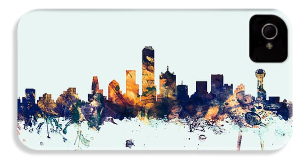 Dallas Texas Skyline IPhone 4 / 4s Case by Michael Tompsett