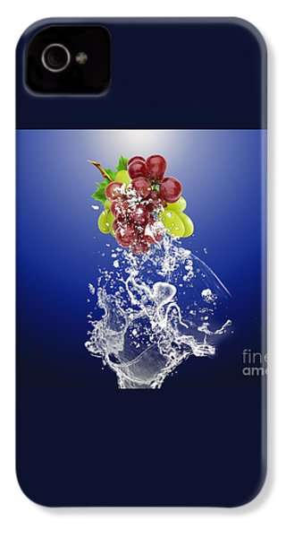 Grape Splash IPhone 4 / 4s Case by Marvin Blaine