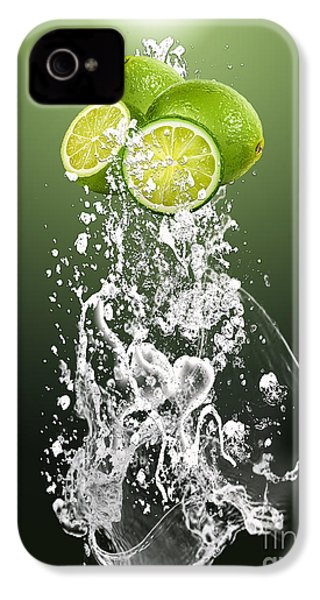 Lime Splash IPhone 4 / 4s Case by Marvin Blaine