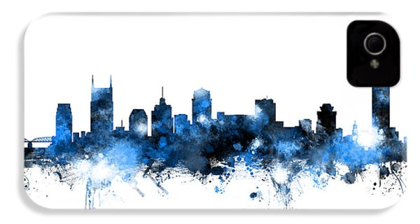 Nashville Tennessee Skyline IPhone 4 / 4s Case by Michael Tompsett