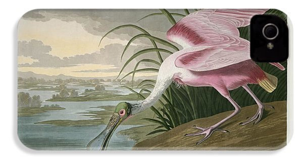 Roseate Spoonbill IPhone 4 / 4s Case by John James Audubon