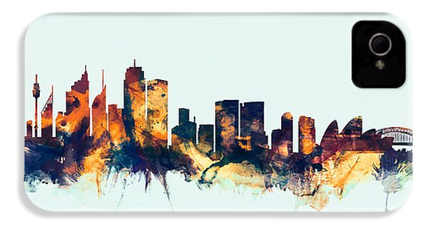 Sydney Australia Skyline IPhone 4 / 4s Case by Michael Tompsett