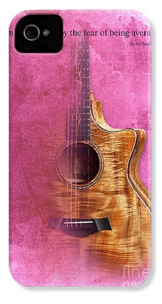 Taylor Inspirational Quote, Acoustic Guitar Original Abstract Art IPhone 4 / 4s Case by Pablo Franchi