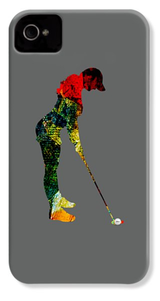 Womens Golf Collection IPhone 4 / 4s Case by Marvin Blaine