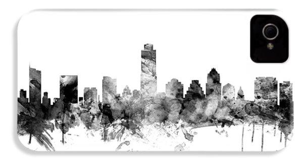 Austin Texas Skyline IPhone 4 / 4s Case by Michael Tompsett