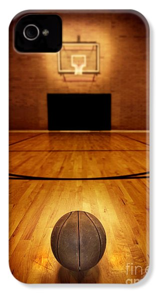 Basketball And Basketball Court IPhone 4 / 4s Case by Lane Erickson