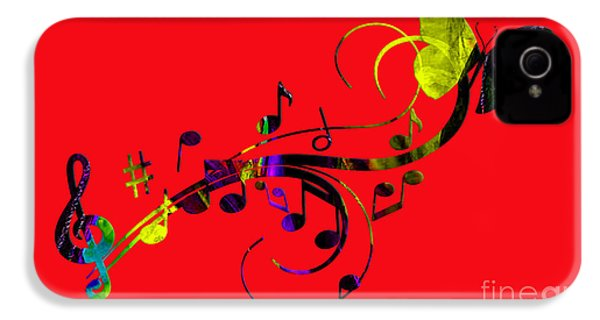 Music Flows Collection IPhone 4 / 4s Case by Marvin Blaine
