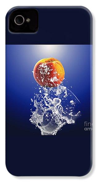 Peach Splash IPhone 4 / 4s Case by Marvin Blaine