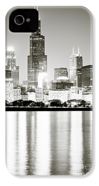 Chicago Skyline At Night IPhone 4 / 4s Case by Paul Velgos
