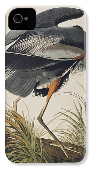 Great Blue Heron IPhone 4 / 4s Case by John James Audubon