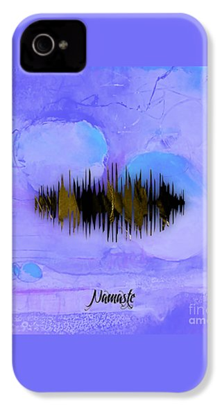 Namaste Spoken Soundwave IPhone 4 / 4s Case by Marvin Blaine