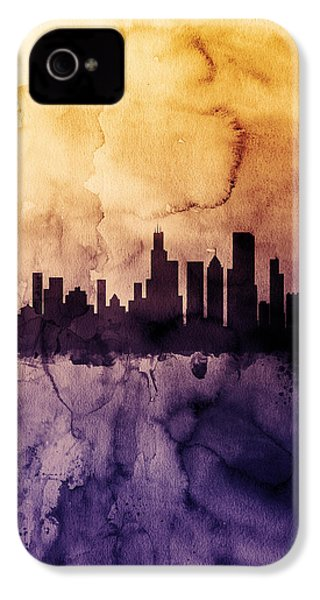 Chicago Illinois Skyline IPhone 4 / 4s Case by Michael Tompsett