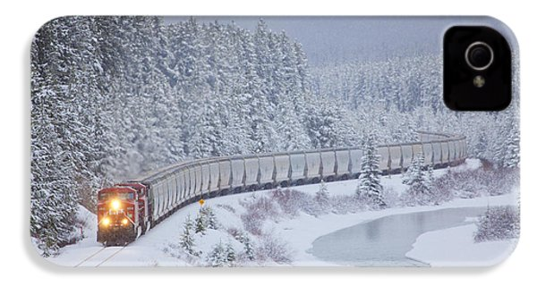 A Canadian Pacific Train Travels Along IPhone 4 / 4s Case by Chris Bolin