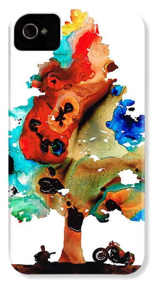 A Certain Kind Of Freedom - Guitar Motorcycle Art Print IPhone 4 / 4s Case by Sharon Cummings