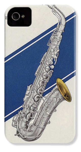 A Charles Gerard Conn Eb Alto Saxophone IPhone 4 / 4s Case by American School