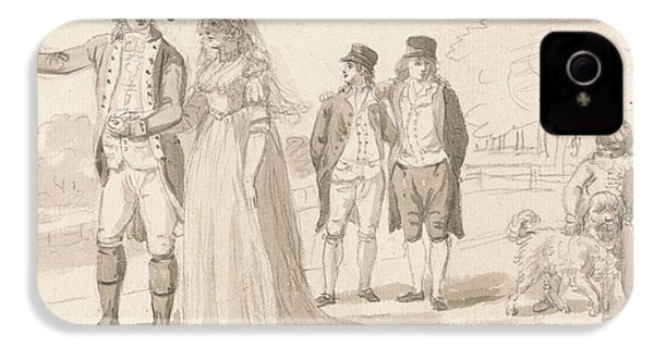 A Family In Hyde Park IPhone 4 / 4s Case by Paul Sandby