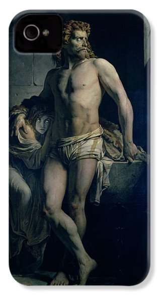 A Gaul And His Daughter Imprisoned In Rome IPhone 4 / 4s Case by Felix-Joseph Barrias