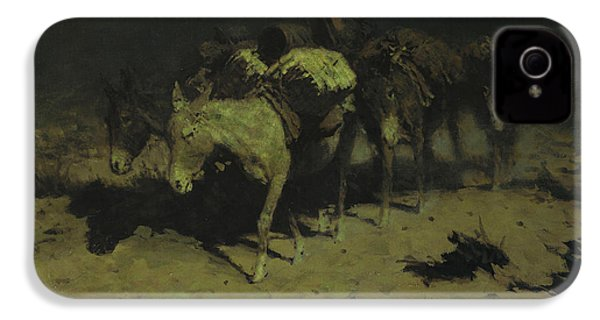 A Pack Train IPhone 4 / 4s Case by Frederic Remington