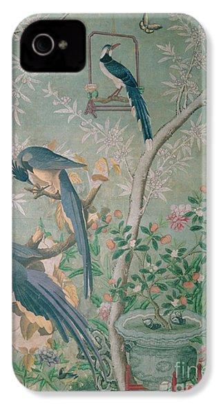 A Pair Of Magpie Jays  Vintage Wallpaper IPhone 4 / 4s Case by John James Audubon