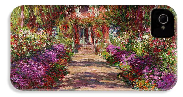 A Pathway In Monets Garden Giverny IPhone 4 / 4s Case by Claude Monet