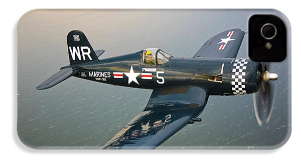 A Vought F4u-5 Corsair In Flight IPhone 4 / 4s Case by Scott Germain