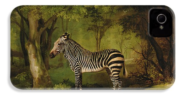 A Zebra IPhone 4 / 4s Case by George Stubbs