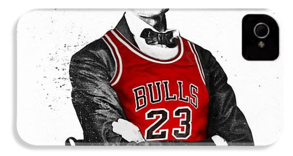 Abe Lincoln In A Bulls Jersey IPhone 4 / 4s Case by Roly Orihuela
